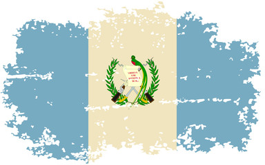 Guatemalan grunge flag. Vector illustration.
