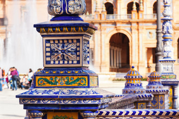 Closeup of Plaza de Espana