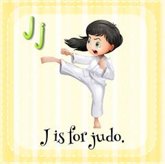 A letter J