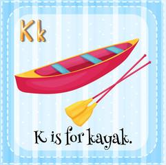 A letter K