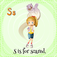 A letter S for scared