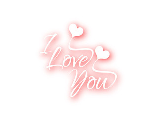 Beautiful text design of I Love You.
