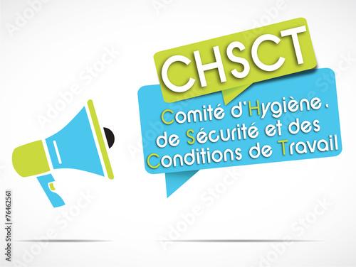 mégaphone vert/bleu : chsct