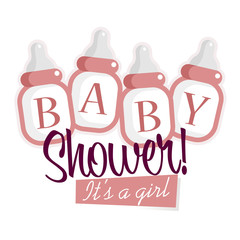 Pink Baby Shower Bottles