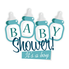 Blue Baby Shower Bottles
