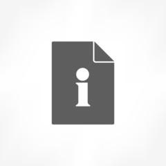 information data icon