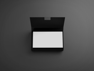 White business cards in the black box