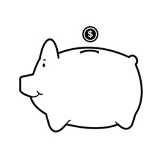 piggy bank isolate on white vector