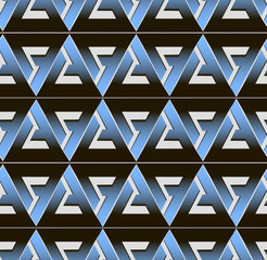 seamless volume geometric pattern