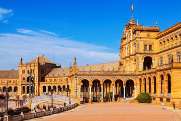 Plaza de Espana  in  day time. Seville