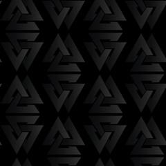 seamless black volume pattern