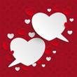 White Red Hearts Speech Bubbles Ornaments