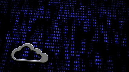 Cloud Computing Concept Digital Wall