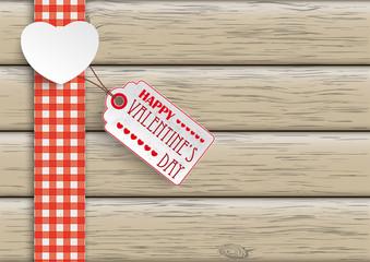 Towel Wood Hearts Price Sticker