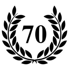 Lauriers 70 sur fond blanc