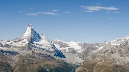 Zermatt, Dorf, Alpen, Walliser Berge, Sommer, Schweiz