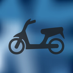 scooter icon on blurred background