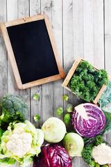 Fresh Assorted Vegetable with Chalkboard