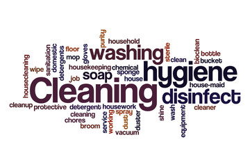 Cleaning word cloud concept 2