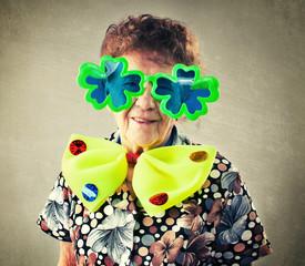 Fun old woman