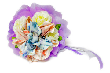 Bouquet of flowers in white background