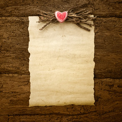 Valentine's Day or wedding parchment