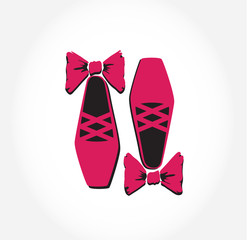 Illustration of  pink ballet pointes shoes