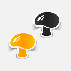 realistic design element: mushroom