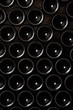 Leinwandbild Motiv Wine bottles as a background
