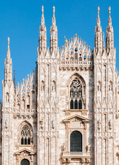 Facade of the Milan Cathedral, Italy