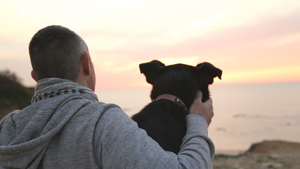 Man and his best firend dog