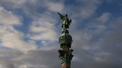 Chistopher Columbus monument in Barcelona, Spain