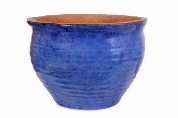 Blauer Blumentopf, isoliert