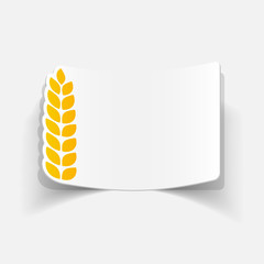 realistic design element: ears of wheat