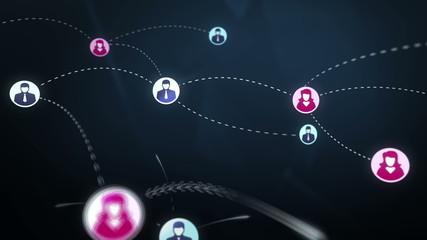 Social network media concept