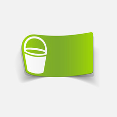 realistic design element: bucket