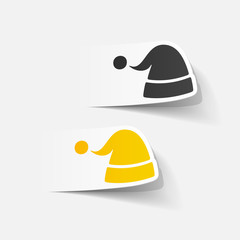 realistic design element: santa hat