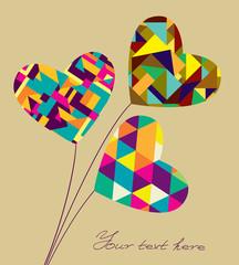 Geometrics hearts card