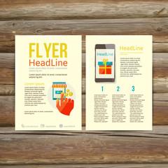 Abstract Brochure Flyer design, online payment
