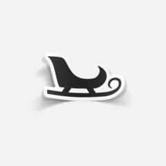 realistic design element: sledge