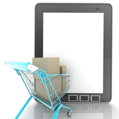 INTERNET purchase concept.