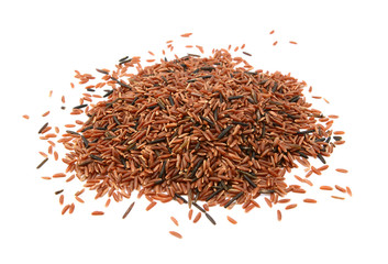 Camargue red rice grains