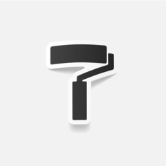 realistic design element: paint roller