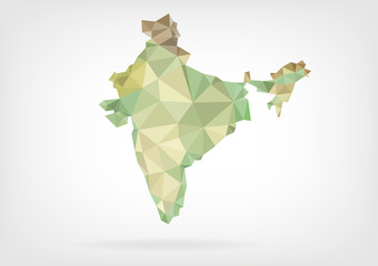 Low Poly map of India