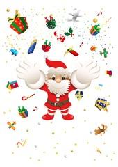 サンタとプレゼント