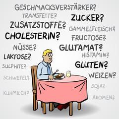 Cartoon: Was kann man eigentlich noch essen? / Vektor