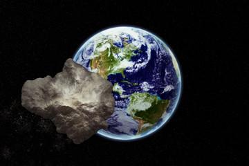 Meteorit rast auf die Erde zu