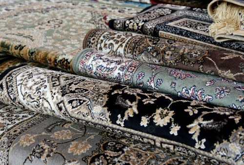 oriental carpets for sale in the shop of rugs - 76471134