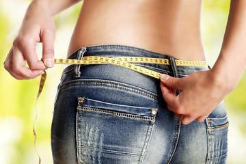 Umfang - erfolgreiche Diät