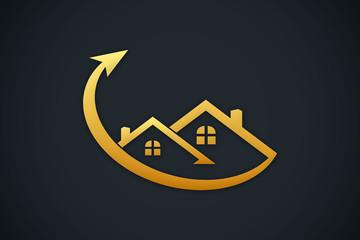 house roof arrow logo